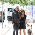 Jennifer Aniston et Rhys Ifans tournent Squirrels to the Nuts à New York le 31 juillet 2013.