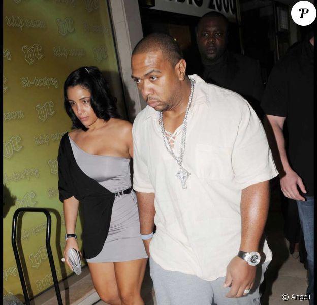 Timbaland en concert au VIP Room. Le rappeur est venu avec son épouse Monique Idlett