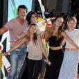 Lorenzo Lamas en famille à l'avant-première mondiale de Planes à Los Angeles, le 5 août 2013