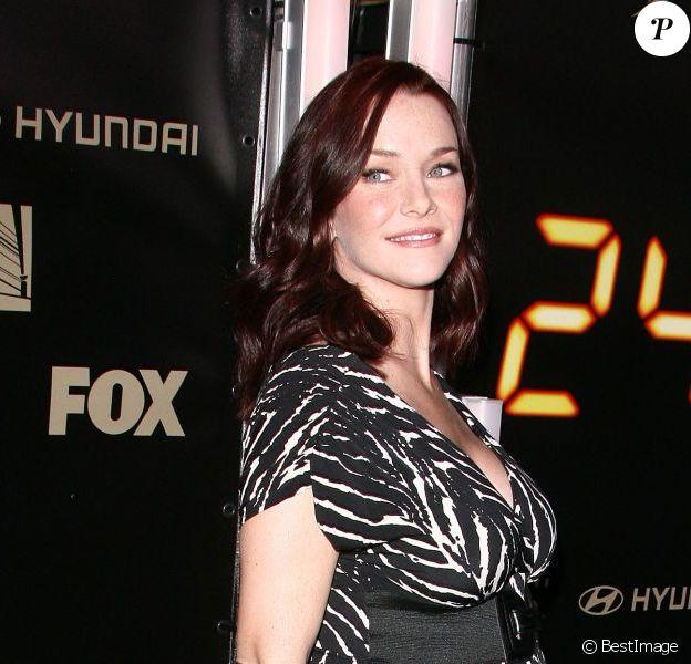 L'actrice Annie Wersching enceinte de son premier enfant à la soirée pour la dernière saison de la série 24 heure chrono. A Los Angeles le 5 mars 2009.