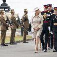 La comtesse Sophie de Wessex à l'Académie militaire de Sandhurst le 9 août 2013, représentant la reine Elizabeth II pour la Sovereign's Parade marquant la fin de la formation des cadets, devenant après 44 semaines de cursus officiers au grade de sous-lieutenant.