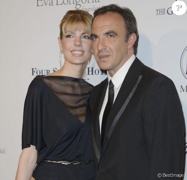 """Nikos Aliagas et sa compagne Tina Grigoriou à la 4e édition du """"Global Gift Gala"""" à Paris, le 13 mai 2013."""