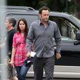 Vince Vaughn et sa femme Kyla (enceinte) sur le tournage de What you don't know, à Chicago le 30 juillet 2010.