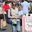 """""""Selma Blair emmène son fils Arthur au Farmers Market, à Studio City, le 11 août 2013"""""""
