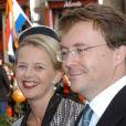 Le prince Friso et la princesse Mabel en octobre 2005. Fils cadet de la princesse Beatrix, le prince Friso est mort le 12 août 2013 à 44 ans à La Haye, un an et demi après avoir sombré dans le coma suite à un accident de ski survenu en Autriche le 17 février 2012.