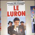 Affiche du dernier spectacle de Thierry Le Luron à Paris le 23 octobre 1986.