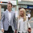 Johnny Evans et sa femmelors d'un repas entre les joueurs de Manchester United le 20 août 2013 à Manchester.