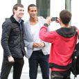 Rio Ferdinand à Manchester pour unrepas entre les joueurs de Manchester United le 20 août 2013.