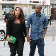 Asheley Young et sa compagneà Manchester pour unrepas entre les joueurs de Manchester United le 20 août 2013.
