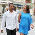 Nani et sa fiancée Daniela Martinslors d'un repas entre les joueurs de Manchester United le 20 août 2013 à Manchester.