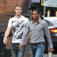 David DeGea et Antonio Valenciaà Manchester pour unrepas entre les joueurs de Manchester United le 20 août 2013.