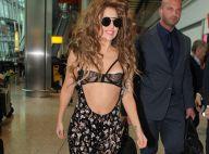 Lady Gaga : Ventre à l'air et lingerie apparente à Londres, après les VMAs