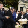 Obsèques de Pierre Huth à Nogent-sur-Marne le 30 août 2013.