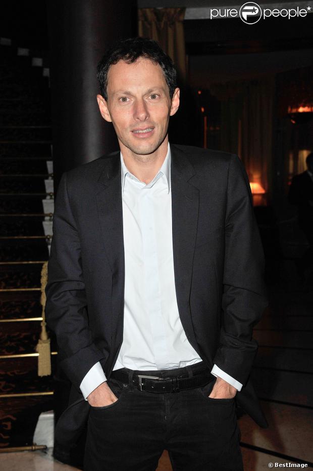 Marc-Olivier Fogiel lors de la soirée d'inauguration du restaurant La Petite Maison niçoise à Paris le 22 janvier 2013