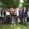 """L'équipe de chroniqueurs de Touche pas à mon poste lors de la conférence de presse de rentrée de D8 et D17 """"Touche Pas a Ma Rentrée"""", le 29 aout 2013 (EXCLU)"""