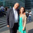 """Gérard Louvin et Alexia Laroche Joubert lors de la conférence de presse de rentrée de D8 et D17 """"Touche Pas a Ma Rentrée"""", le 29 aout 2013 (EXCLU)"""