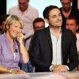 """Ariane Massenet et Camille Combal lors de la conférence de presse de rentrée de D8 et D17 """"Touche Pas a Ma Rentrée"""", le 29 aout 2013 (EXCLU)"""