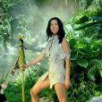 La chanteuse Katy Perry en nouvelle reine de la jungle dans le clip de Roar.