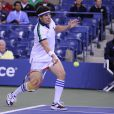 Jason Biggs à l'US Open le 5 septembre 2013lors d'un match exhibition contre les anciennes gloires du tennis Monica Seles et Chris Evert.