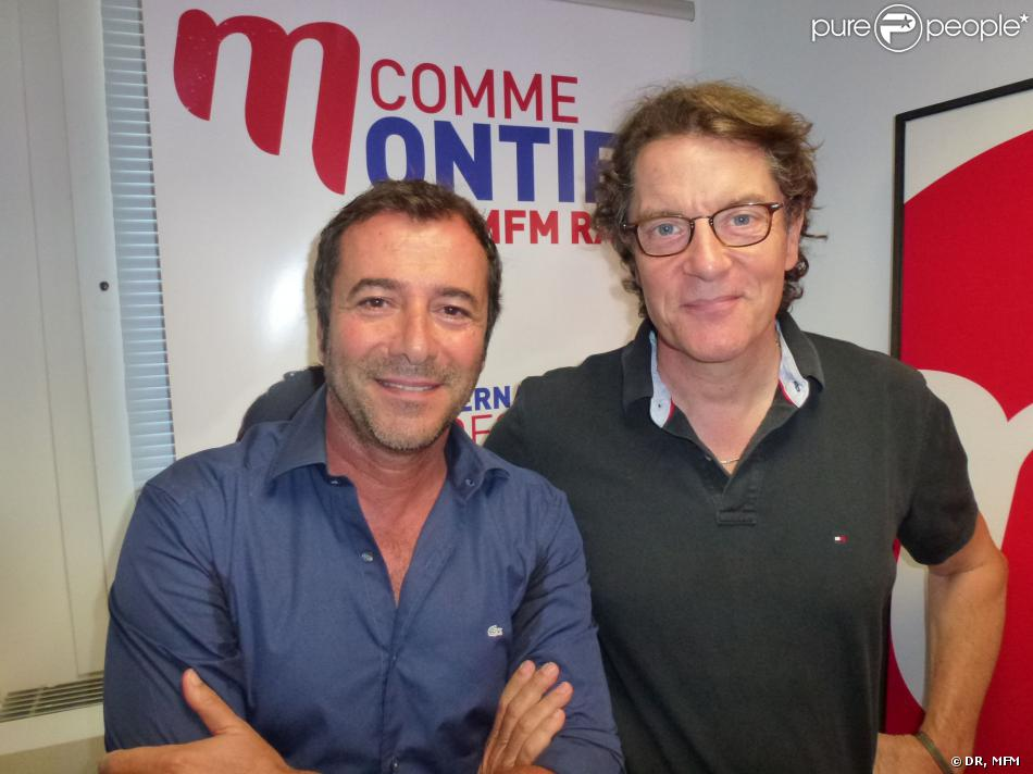 bernard montiel et francis cabrel dans les studios de mfm paris. Black Bedroom Furniture Sets. Home Design Ideas