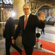 Albert II de Monaco au Teatro Colon à Buenos Aires le 6 septembre 2013 pour la soirée d'ouverture de la 125e session du CIO, qui doit désigner la ville hôte des JO 2020.