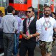 Carlos Tevez dans les travées du Grand Prix d'Italie à Monza, le 8 septembre 2013