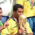 Romario gagne la Coupe du Monde à Los Angeles, le 20 juillet 1994.