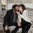 Marek Halter et Clara Halter - Soirée du nouvel an juif chez Marek Halter à Paris le 8 septembre 2013.