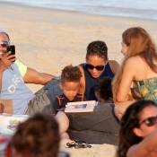 Alicia Keys avec son fils Egypt : Châteaux de sable et câlins sur la plage