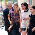 La belle actrice Jessica Alba se balade dans les rues de New York le 11 septembre 2013.