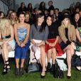 (De gauche à droite) Ellie Goulding, Pixie Geldof, Daisy Lowe, Samantha Barks, Suki Waterhouse et Kaya Scodelario assistent au défilé Topshop Unique printemps-été 2014 au Topshop Show Space. Londres, le 15 septembre 2013.