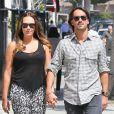 Tamara Ecclestone et son amoureux Jay Rutland dans les rues de Beverly Hills, le 17 septembre 2013