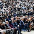 Barack Obama et Michelle Obama ont assisté à une cérémonie hommage aux victimes de la tuerie de Navy Yard, le 22 septmbre 2013 à Washington. Le couple a réconforté les familles et le président a délivré un discours.