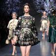 Défilé Dolce & Gabbana printemps-été 2014 à Milan, le 22 septembre 2013.