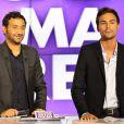 Cyril Hanouna et Bertrand Chameroy sur le plateau de Touche pas a mon poste, sur D8, le 2 septembre 2013.