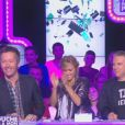 Cyril Hanouna et son équipe dans l'émission Touche pas à mon poste (D8). Le 23 septembre 2013