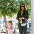 Jennifer Garner et sa fille Seraphina à Pacific Palisades, le 24 septembre 2013.