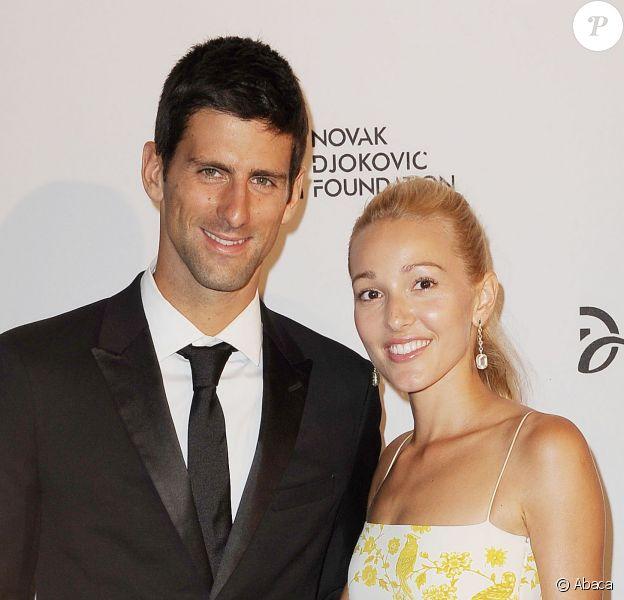 Novak Djokovic et sa fiancée Jelena Ristic à New York le 10 septembre 2013.