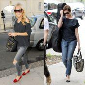 Poppy Delevingne vs Anne Hathaway : Qui porte le mieux le jean déchiré ?
