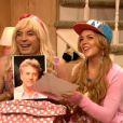 """""""Jimmy Fallon et Lindsay Lohan dans un sketch à la télé, le 25 septembre 2013."""""""