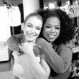 """""""Lindsay Lohan et Oprah Winfrey, après leur interview. Photo postée sur le site de l'actrice."""""""