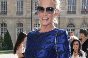 Estelle Lefébure et Eva Herzigova : Beautés blondes renversantes chez Dior