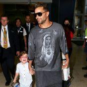 Ricky Martin : Le sexy papa débarque avec ses jumeaux en Australie
