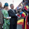 Le roi Philippe et la reine Mathilde de Belgique étaient en visite à Anvers le 27 septembre 2013 dans le cadre de leur tournée ''Joyeuses entrées''.