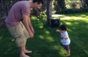 Lionel Messi : Papa heureux des premiers pas de Thiago avec sa belle Antonella