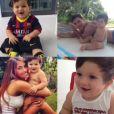 Photomontage de Thiago, le fils de Lionel Messi, à Barcelone le 30 septembre 2013.