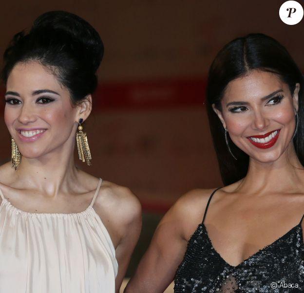 """Edy Ganem et Roselyn Sanchez présentent """"Devious Maids"""", au Festival de fiction de Rome, le 30 septembre 2013."""