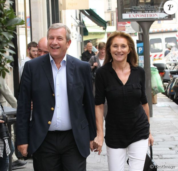 Richard et Cécilia Attias à Paris le 27 septembre 2011.