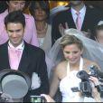 Cécilia Attias et Richard Attias au mariage de Jeanne-Marie Martin et Rallon Gurvan à Paris 10 mai 2008.