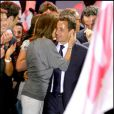 Nicolas Sarkozy et son ex-femme Cécilia sur la place de la Concorde le 7 mai 2007.